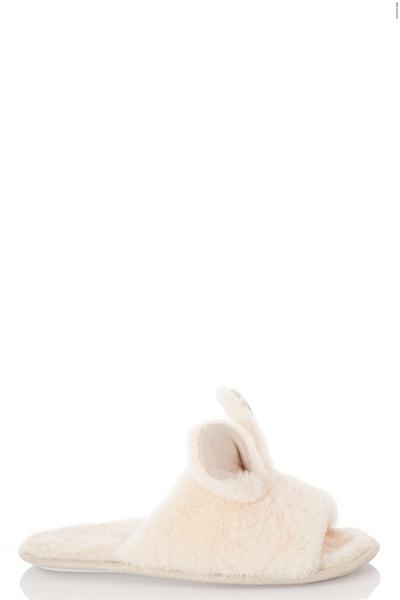 Cream Bunny Slider Slippers